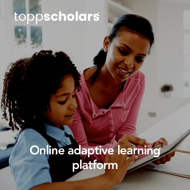 Toppscholars Online adaptive learning with videos