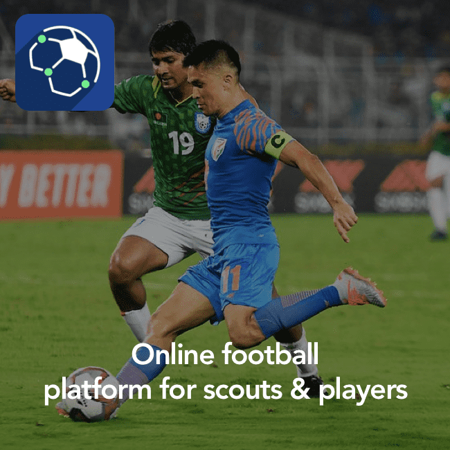 Online football platform for scouts